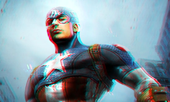 Captain America 3D Image